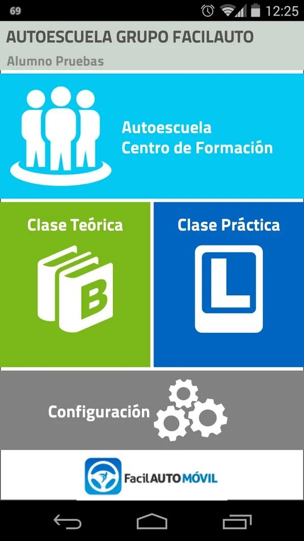 App de Facilauto con test teóricos