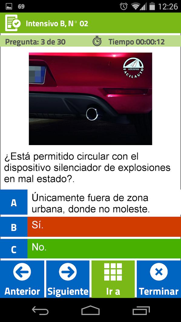App para TEST de Facilauto