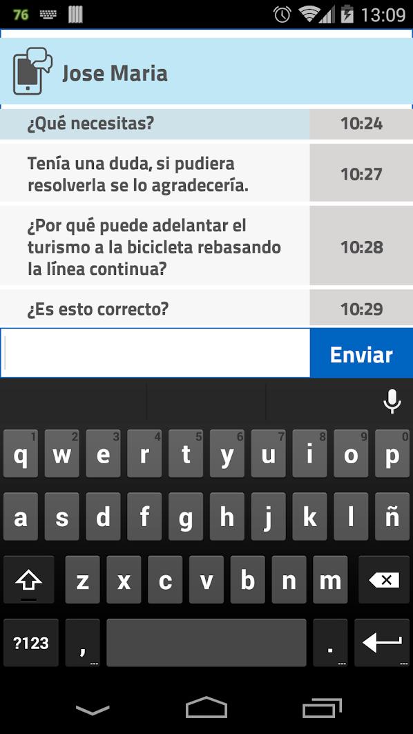 App Facilauto con conexión con el profesor